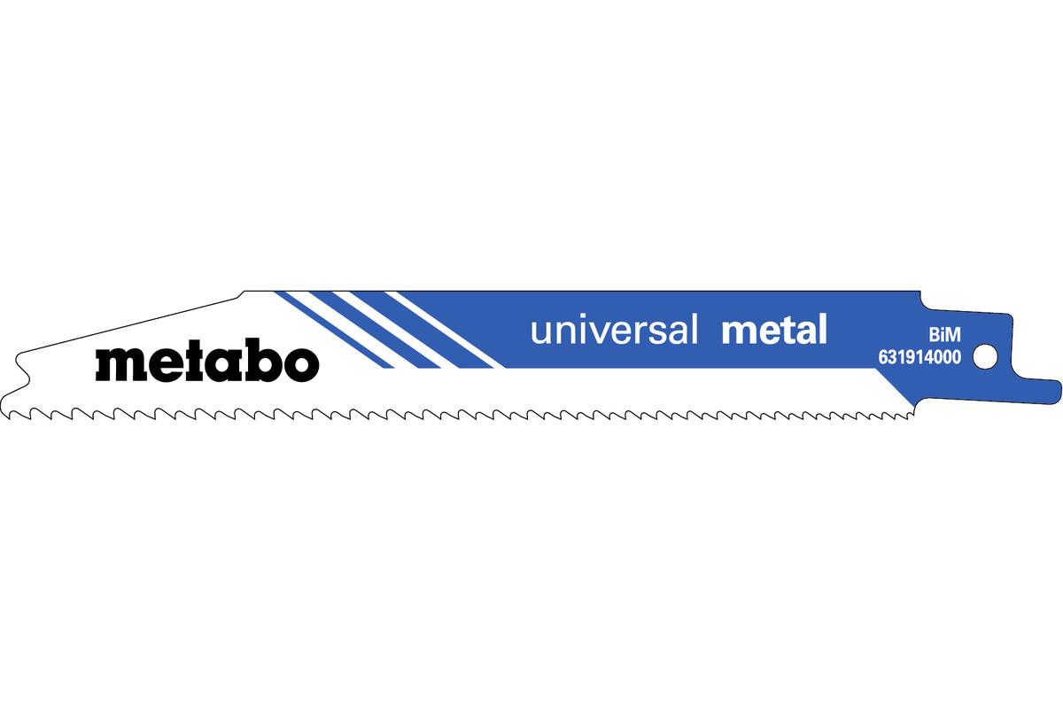 """5 listov večnamenske sabljaste žage """"universal metal"""" 150 x 0,9 mm (631914000)"""