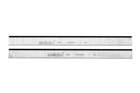 2 noža za debelilni stroj iz karbidne trdine, HC 260 C/M/K (0911030730)