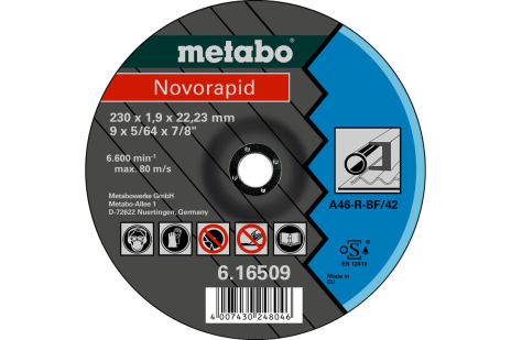 Novorapid 230 x 1,9 x 22,23 mm, jeklo, TF 42 (616509000)
