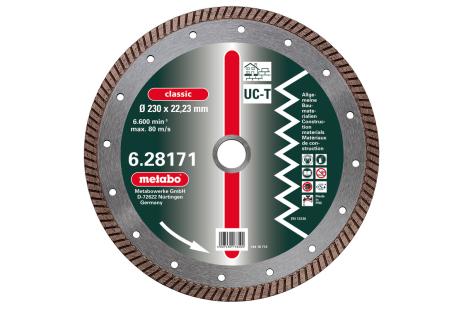 "Diamantna rezalna plošča, 125x2x22,23mm, ""classic"", ""UC-T"", Turbo, univerzalna (628168000)"