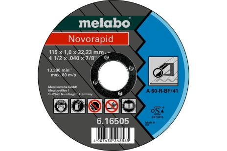Novorapid 115 x 1,0 x 22,23 mm, jeklo, TF 41 (616505000)