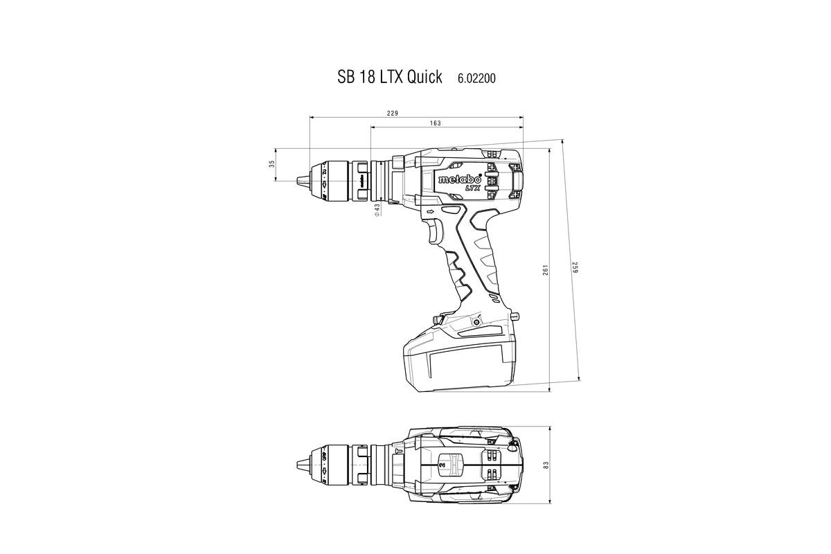 SB 18 LTX Quick (602200660) Akumulátorová príklepová vŕtačka