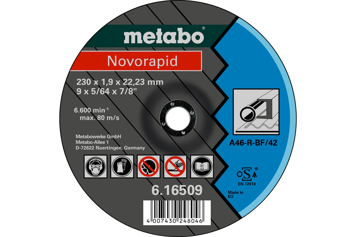 Novorapid 230 x 1,9 x 22,23 mm, oceľ, TF 42 (616509000)