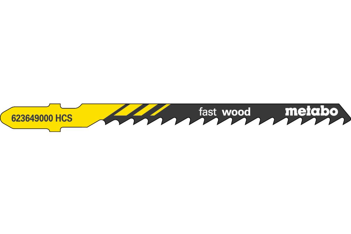 5 listy priamočiarej píly, drevo, profess. 74/ 4,0 mm (623649000)
