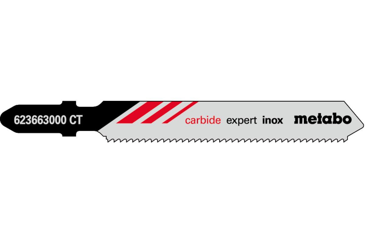 3 listy priamočiarej píly, Inox, expert, 57/1,4mm (623663000)