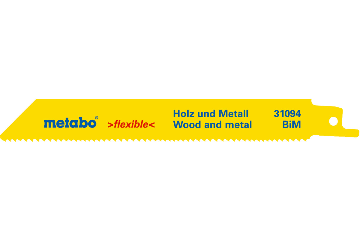 25 listov šabľovej píly, H+M, flexible, 150x0,9 mm (628246000)