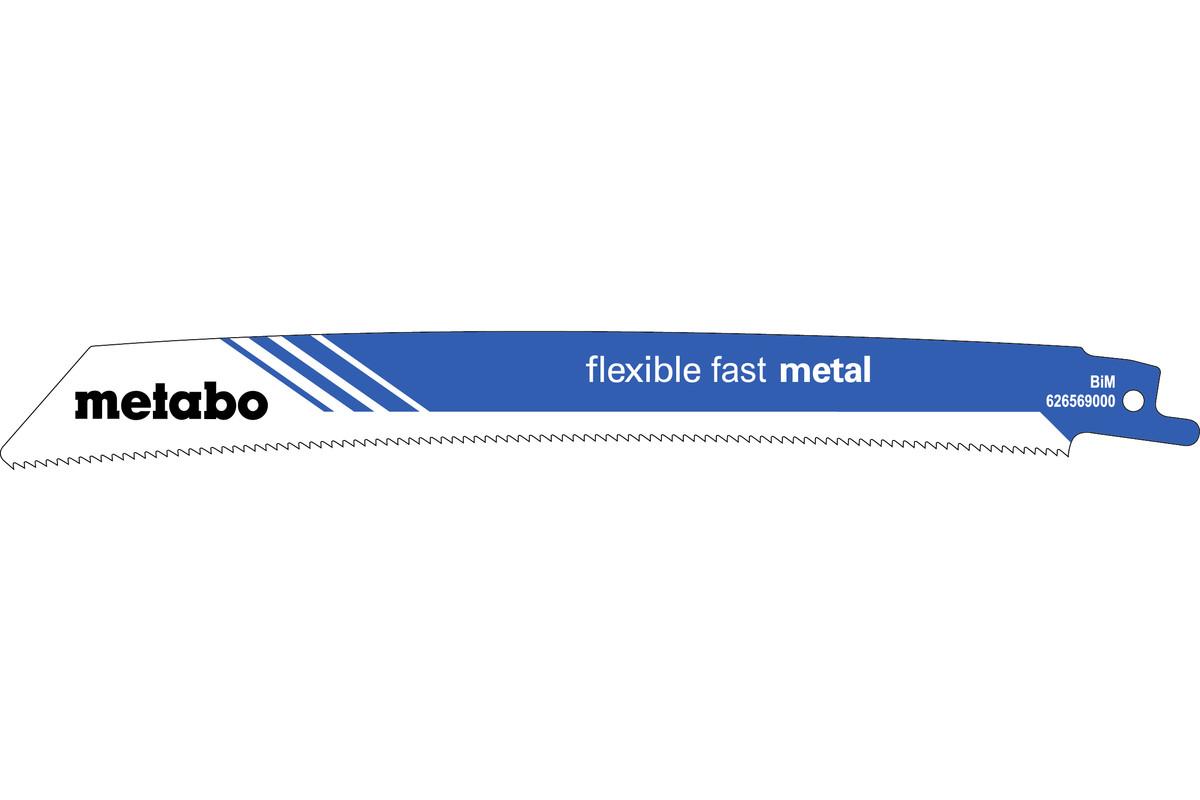 """5 pílových listov do šabľovej píly """"flexible fast metal"""" 225 x 0,9 mm (626569000)"""