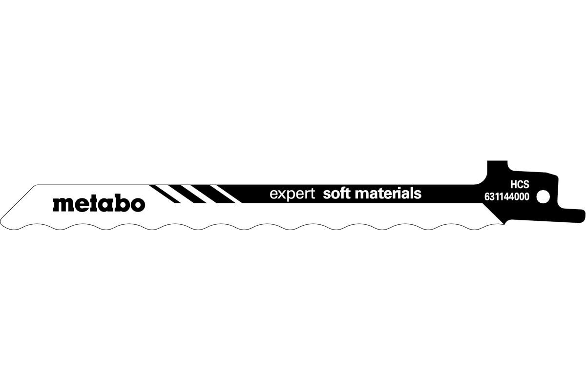 """2 pílové listy do šabľovej píly """"expert soft materials"""" 150 x 1,0 mm (631144000)"""