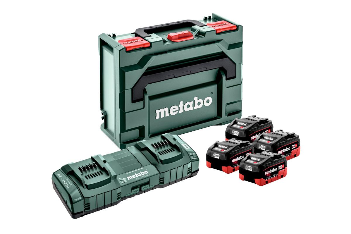Základná súprava 4 x LiHD 8.0 Ah + ASC 145 Duo + Metaloc (685135000)