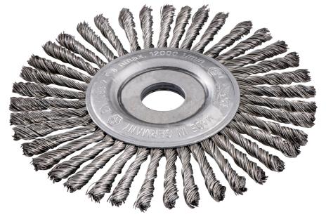 Okrúhla kefa 125x0,5x6 /22,23 mm, zapletaná oceľ (626815000)