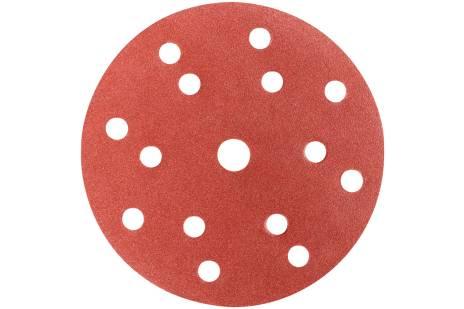 """50 brúsnych papierov so suchým zipsom 150 mm, P40, H+M, """"multi-hole"""" (626674000)"""