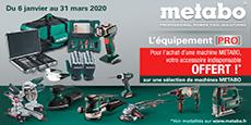 """navigation Offres spéciales """"lequipement-pro-metabo"""""""