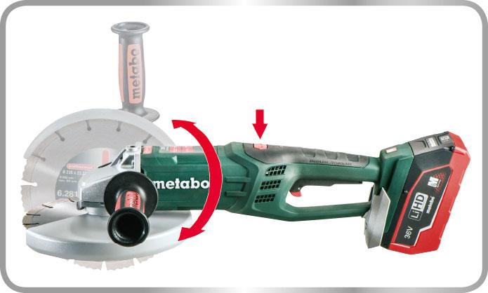 aku uhlová brúska 230 Metabo WPB 36 LTX BL 230 - kúpite na kajo.sk