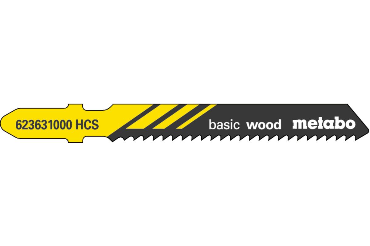 5 пильних полотен для лобзика, для деревини, classic, 51/ 2,0 мм (623631000)