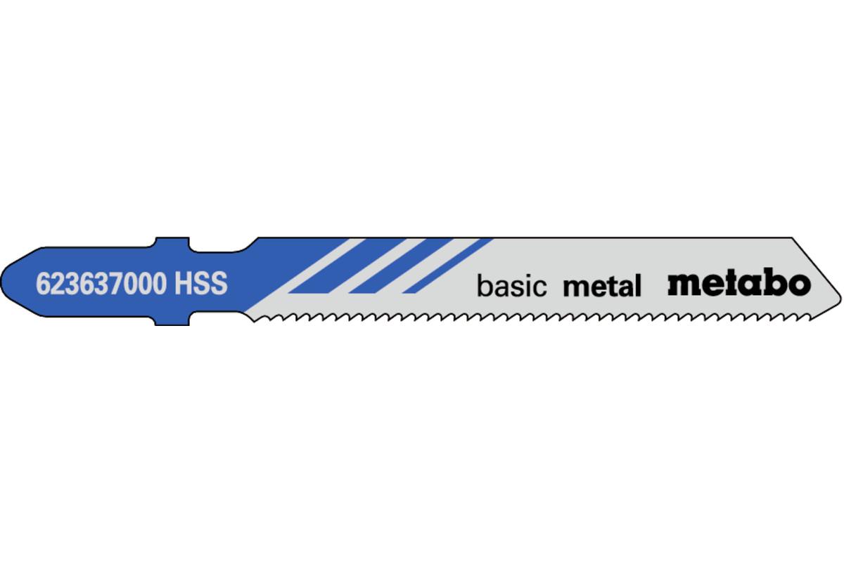 5 пильних полотен для лобзика, метал, classic, 51/ 1,2 мм (623637000)