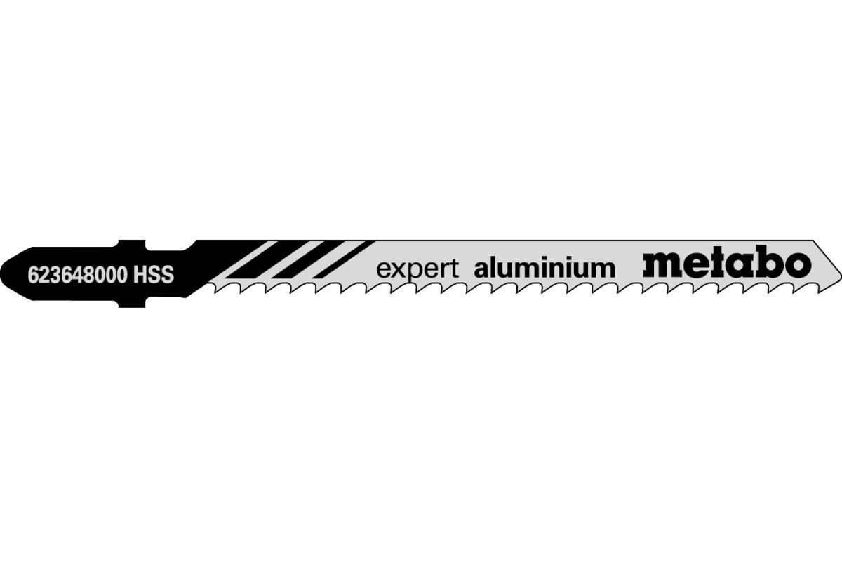 5 пильних полотен для лобзика, Ал+КМ, expert, 74/3,0 мм (623648000)