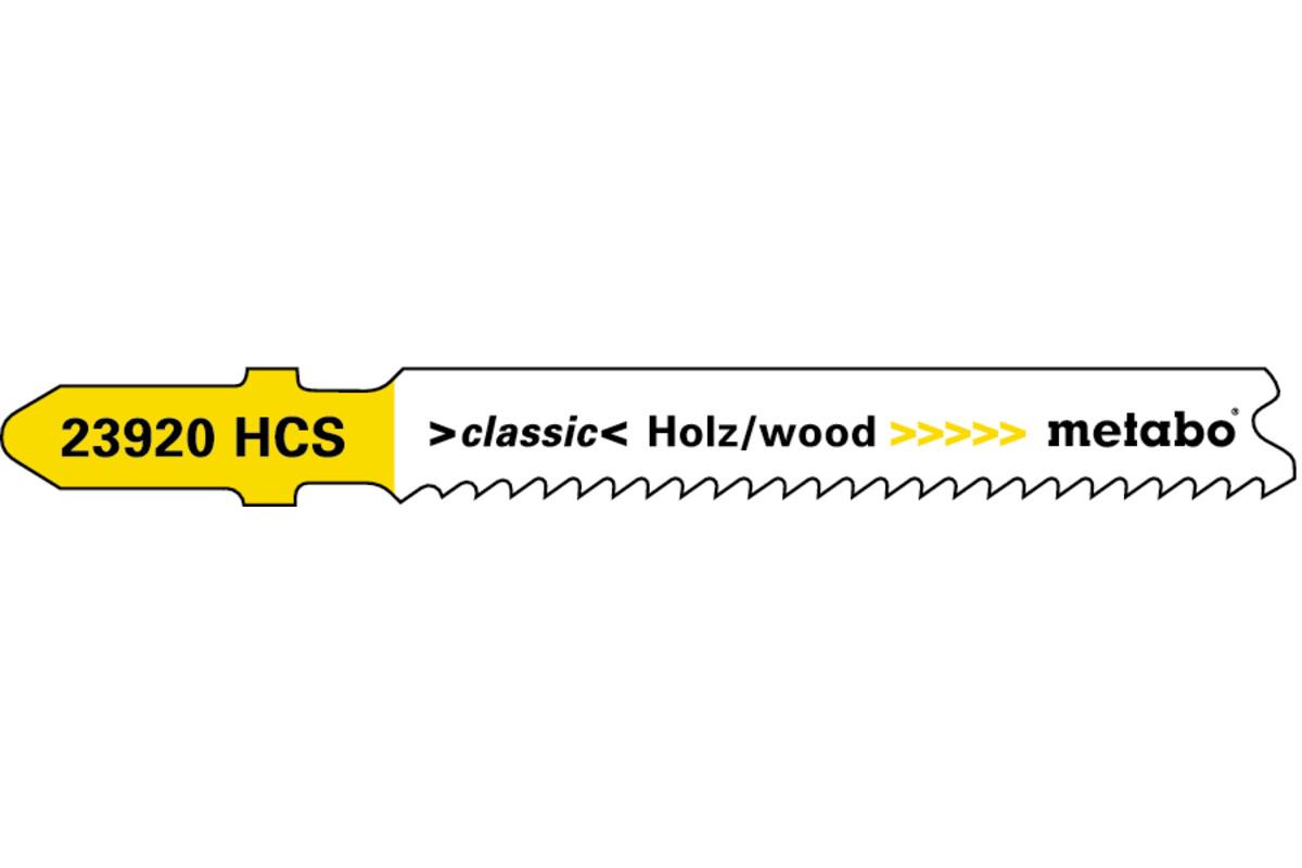 5 пильних полотен для лобзика, для деревини, classic, 66 мм/progr. (623920000)