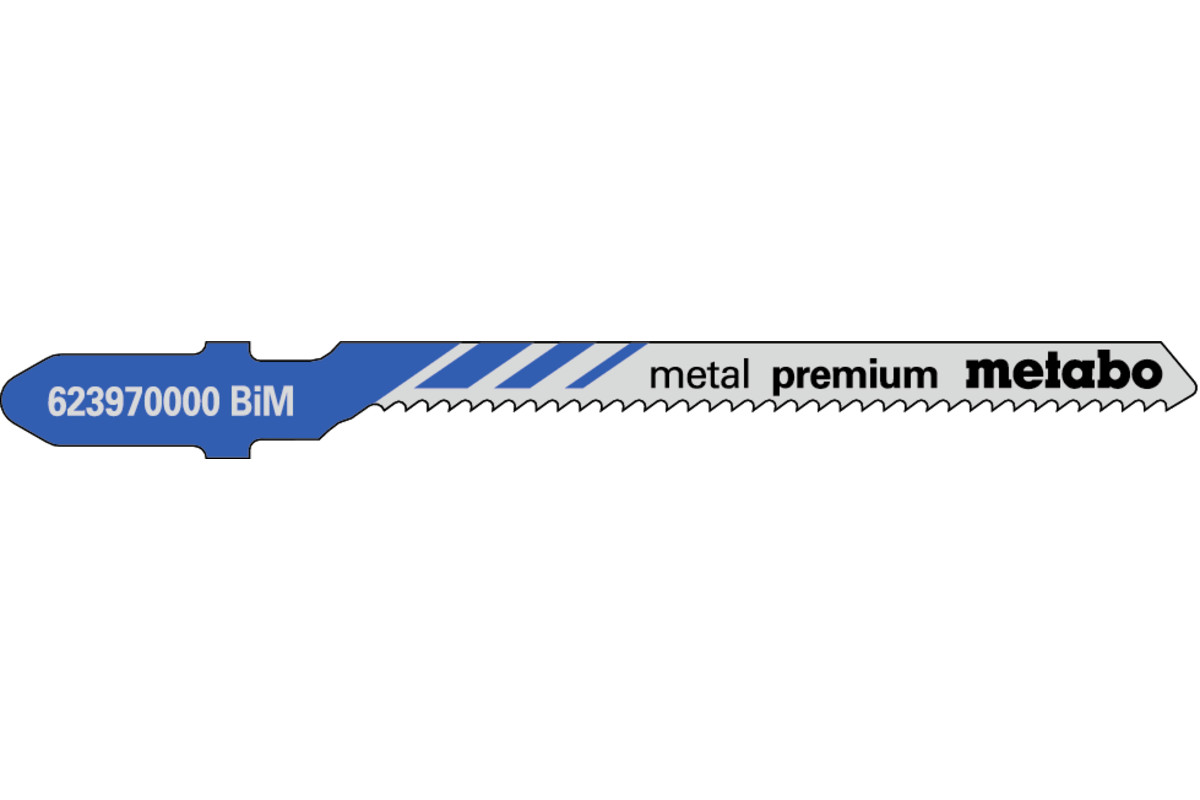 5 пильних полотен для лобзика, метал, profess. 57/ 1,5 мм (623970000)