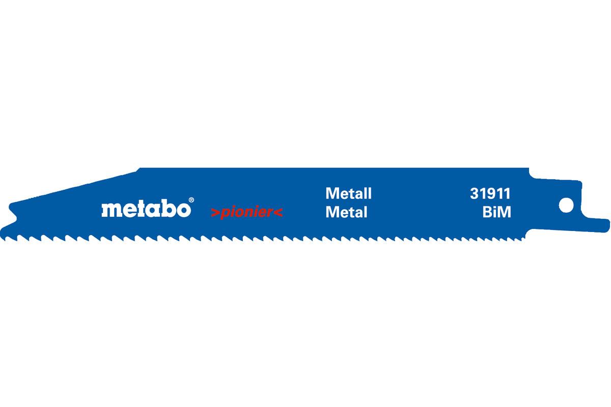 2 пильні полотна для шабельних пил, метал, pionier, 150x0,9 мм (631911000)