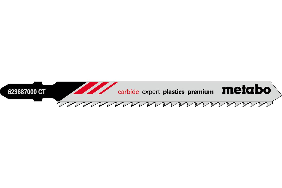 3 пилкових полотна для лобзиків «expert plastics premium», 91/ 3,3 мм (623687000)