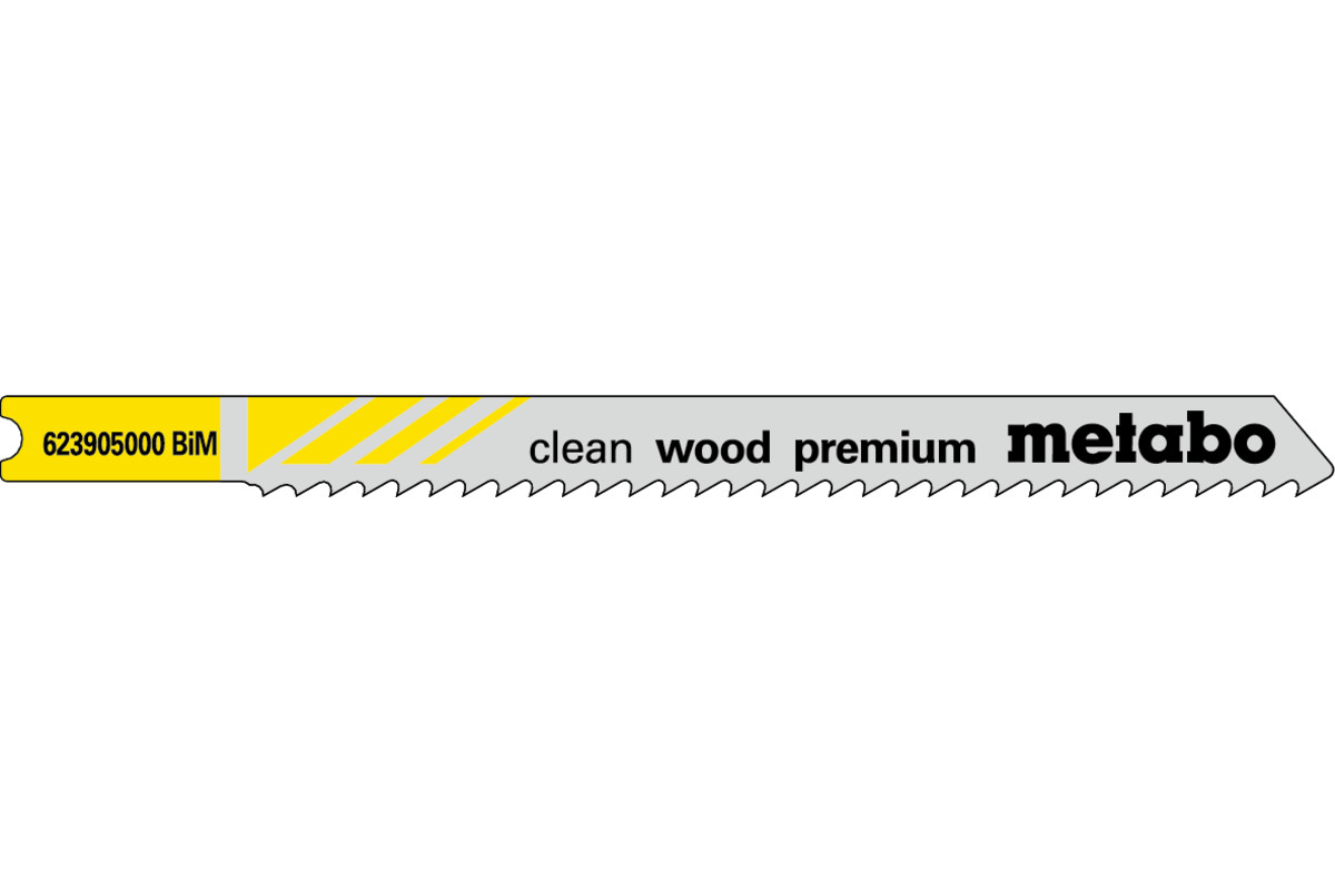 5 пилкових U-подібних полотен для лобзиків «clean wood premium», 82/2,5 мм (623905000)