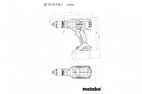 SB 18 LTX-3 BL I  (602356660) Акумуляторний ударний дриль