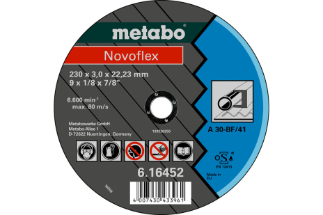 Novoflex 230x3,0x22,23 сталь, TF 41 (616452000)