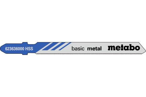5 пильних полотен для лобзика, метал, classic, 66/ 0,7 мм (623636000)