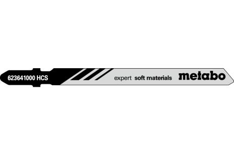 5 пильних полотен для лобзика с ножами, стиропор, expert, 74 мм (623641000)