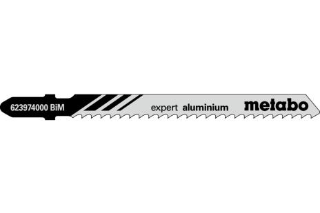 5 пильних полотен для лобзика, Ал+КМ, expert, 75/3,0 мм (623974000)