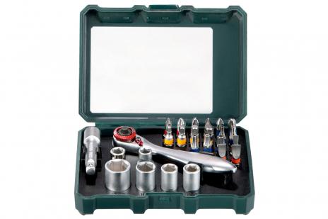 """Коробка з інструментальними насадками та комплект тріскачок """"SP"""", 26 предметів (626701000)"""