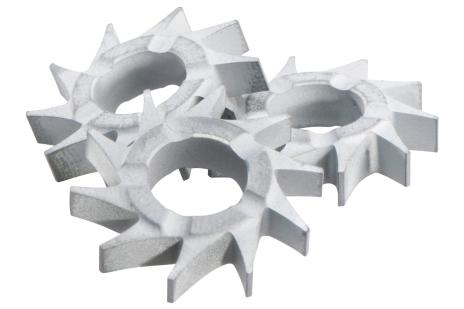 15 фрезерних зірочок з плоскими зубцями (628213000)