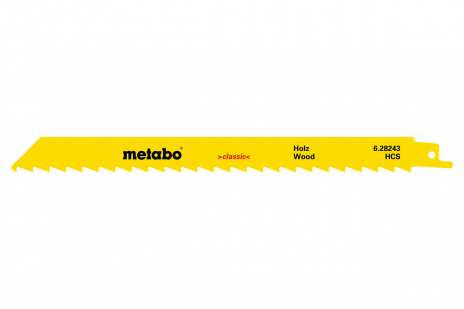 5 пильних полотен для шабельних пил, для деревини, classic, 225x1,25 мм (628244000)
