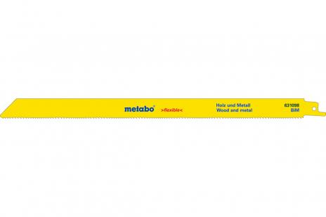 5 пильних полотен для шабельних пил, Д+М, flexible, 300x0,9 мм (631407000)