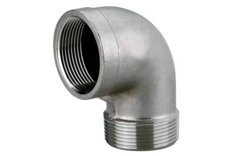 """Кутовий з'єднувальний патрубок 1 1/2"""", нержавіюча сталь (0903064838)"""