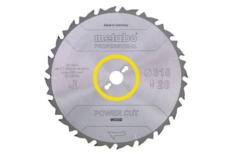 """Пилкове полотно """"power cut wood - professional"""", 216x30, Z24 WZ 5° neg. (628009000)"""