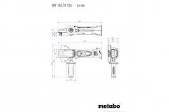 WF 18 LTX 125 Quick (601306660) Акумуляторна кутова шліфувальна машина з пласким корпусом редуктора