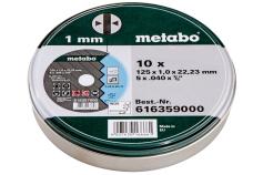 10 відрізних дисків «SP» 125x1,0x22,23 Inox, TF 41 (616359000)