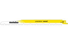 5 пилкових полотен для шабельних пилок «precision wood», 240 x 1,5мм (631488000)