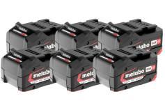 Комплект з 6 акумуляторних блоків Li-Power 18 В / 5,2 А*г (625152000)