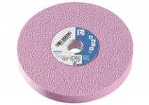 Pink aluminium oxide grinding wheels
