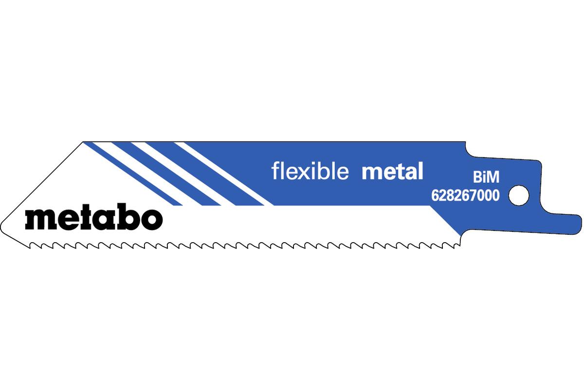 5 Sabre saw blades,metal,flexible,100 x 0.9 mm (628267000)