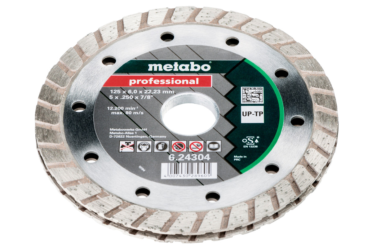 "Diamond cutting disc, 125x6x22.23 mm, ""professional"", ""UP-TP"" (624304000)"