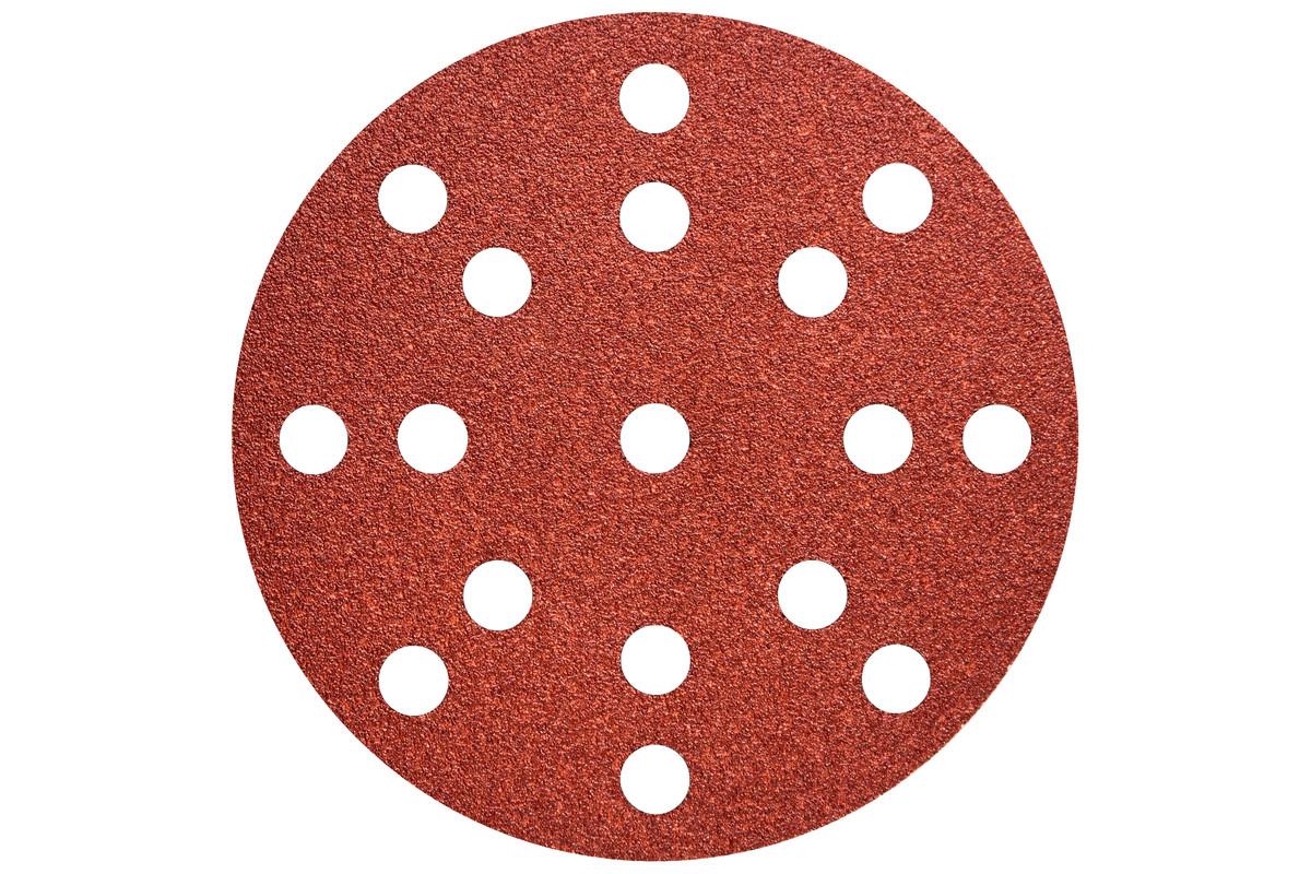 """50 Hook and loop sanding sheets 125 mm, P240, wood + metal, """"multi-hole"""" (626854000)"""