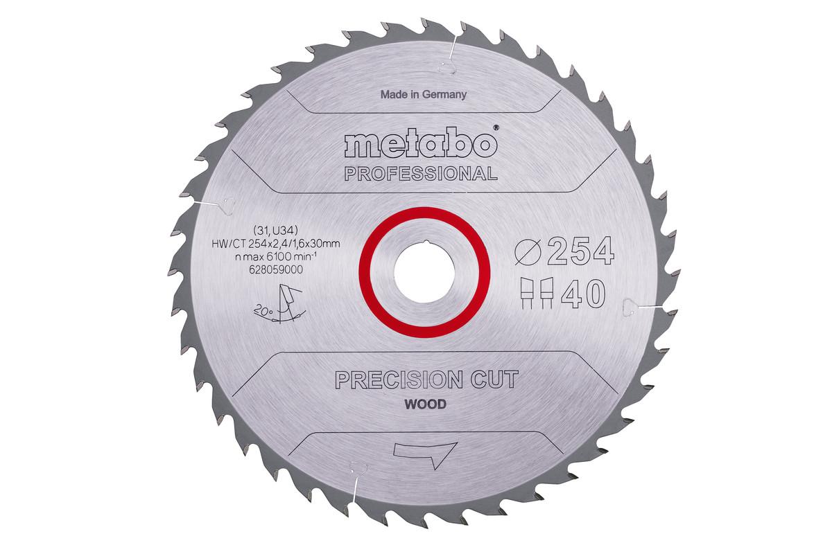 "Saw blade ""precision cut wood - professional"", 254x30, Z40 WZ 20° (628059000)"