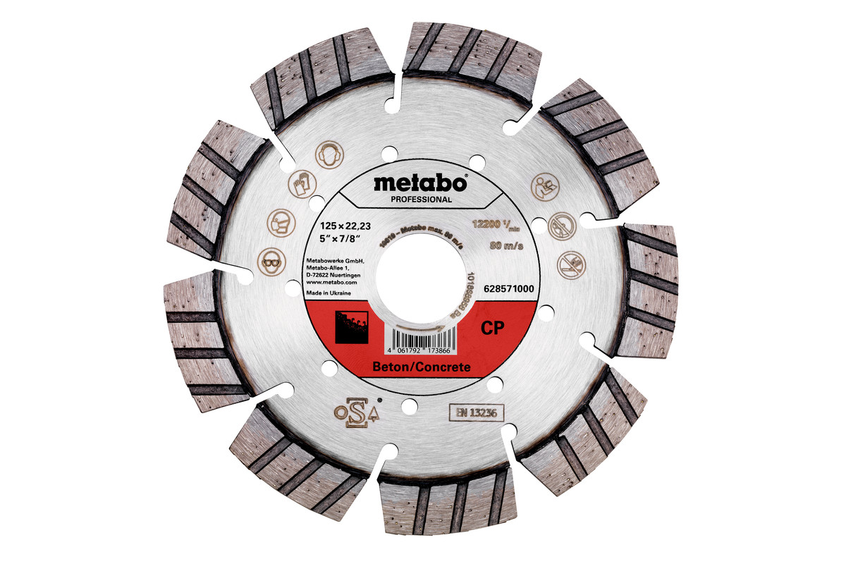 "Diamond cutting disc 125x22.23mm, ""CP"", concrete ""professional"" (628571000)"