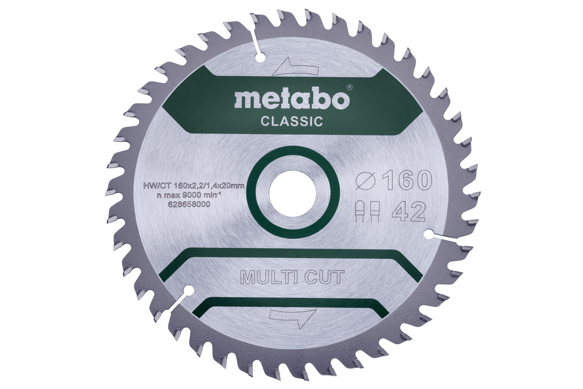 """Saw blade """"multi cut - classic"""", 160x20 Z42 FZ/TZ 5° /B (628658000)"""