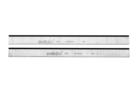 2 Carbide planer blades, HC 260 C/M/K (0911030730)