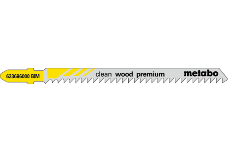 5 Jigsaw blades, wood, profess. 91/3.0 mm (623696000)