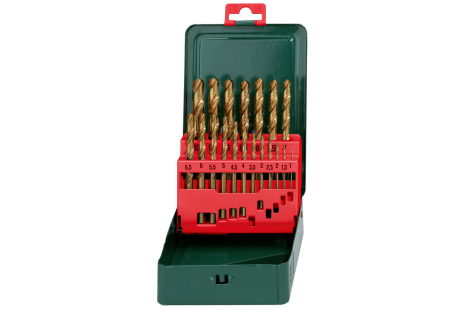 """HSS-TiN drill bit storage case, """"SP"""", 19 pieces (627156000)"""